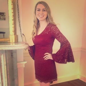 White House Black Market Red Lace dress